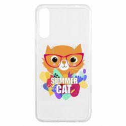 Чохол для Samsung A50 Summer cat
