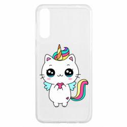 Чохол для Samsung A50 The cat is unicorn