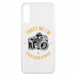 Чохол для Samsung A50 Trust me i'm photographer