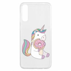 Чехол для Samsung A50 Unicorn and cake