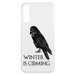 Чохол для Samsung A50 Winter is approaching and crow