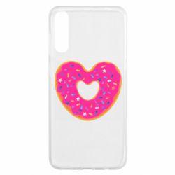 Чохол для Samsung A50 Я люблю пончик