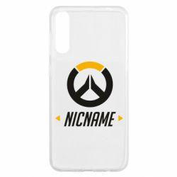 Чехол для Samsung A50 Your Nickname Overwatch