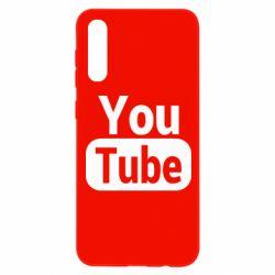 Чохол для Samsung A50 Youtube vertical logo