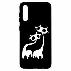 Чохол для Samsung A50 Жирафи