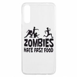 Чохол для Samsung A50 Zombies hate fast food