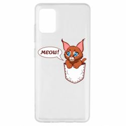 Чохол для Samsung A51 A cat in his pocket