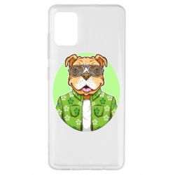 Чохол для Samsung A51 A dog with glasses and a shirt