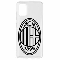 Чохол для Samsung A51 AC Milan logo