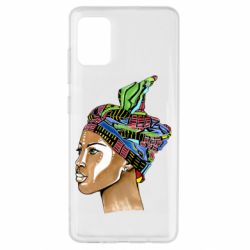 Чохол для Samsung A51 African girl in a color scarf