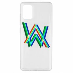 Чехол для Samsung A51 Alan Walker multicolored logo