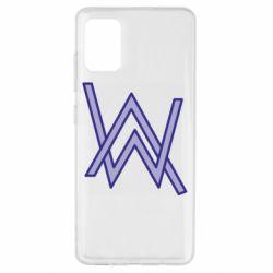 Чехол для Samsung A51 Alan Walker neon logo