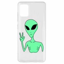 Чехол для Samsung A51 Alien and two fingers