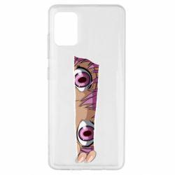Чохол для Samsung A51 Anime girl peeping