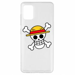 Чохол для Samsung A51 Anime logo One Piece skull pirate
