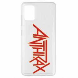 Чохол для Samsung A51 Anthrax red logo