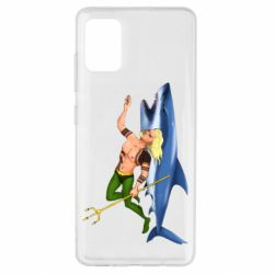 Чехол для Samsung A51 Aquaman with a shark