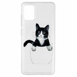 Чехол для Samsung A51 Art cat in your pocket