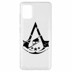 Чехол для Samsung A51 Assassin's Creed and skull 1