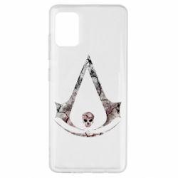 Чехол для Samsung A51 Assassins Creed and skull