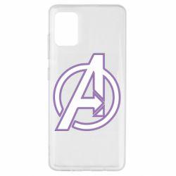 Чехол для Samsung A51 Avengers and simple logo
