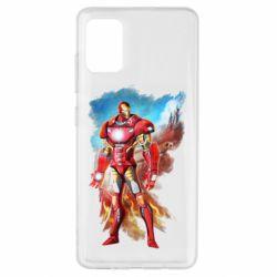 Чохол для Samsung A51 Avengers iron man drawing