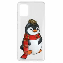 Чохол для Samsung A51 Baby penguin with a scarf