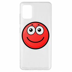 Чохол для Samsung A51 Ball with smile