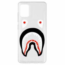 Чехол для Samsung A51 Bape shark logo