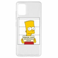 Чехол для Samsung A51 Барт в тюряге