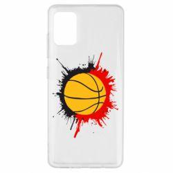 Чехол для Samsung A51 Баскетбольный мяч