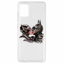 Чехол для Samsung A51 Batman and Catwoman Kiss