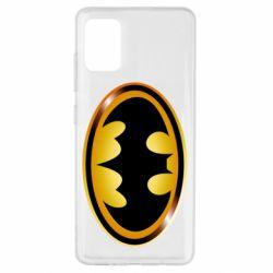 Чохол для Samsung A51 Batman logo Gold