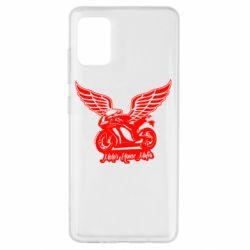 Чехол для Samsung A51 Байк с крыльями