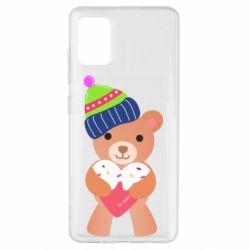 Чехол для Samsung A51 Bear and gingerbread