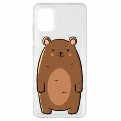 Чехол для Samsung A51 Bear with a smile