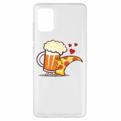 Чохол для Samsung A51 Beer and Pizza were kissed