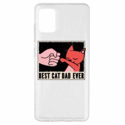 Чехол для Samsung A51 Best cat dad ever
