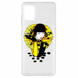 Чехол для Samsung A51 Black and yellow clown
