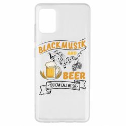 Чехол для Samsung A51 Black music and bear you can call me sir