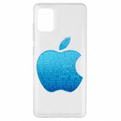 Чехол для Samsung A51 Blue Apple