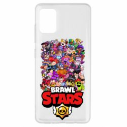 Чехол для Samsung A51 Brawl Stars all characters art