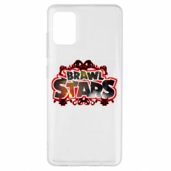 Чехол для Samsung A51 Brawl stars logo red pattern