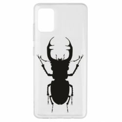 Чехол для Samsung A51 Bugs silhouette
