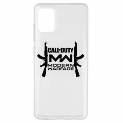 Чехол для Samsung A51 Call of debt MW logo and Kalashnikov