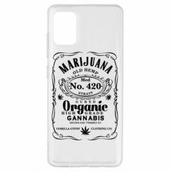 Чохол для Samsung A51 Cannabis label