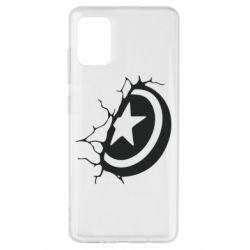 Чохол для Samsung A51 Captain America shield