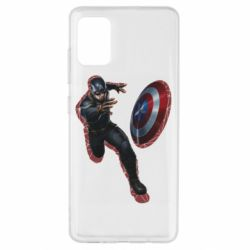Чехол для Samsung A51 Captain america with red shadow