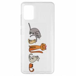 Чехол для Samsung A51 Cat family