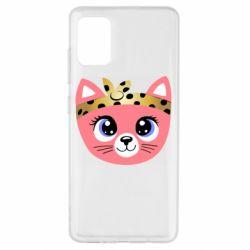 Чехол для Samsung A51 Cat pink